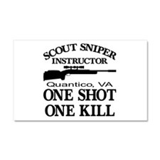 Scout-Sniper Instructor Car Magnet 20 x 12