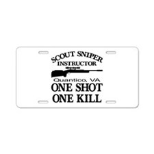 Scout-Sniper Instructor Aluminum License Plate