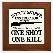 Scout-Sniper Instructor Framed Tile