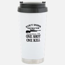 Scout-Sniper Instructor Stainless Steel Travel Mug