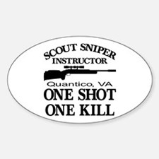 Scout-Sniper Instructor Sticker (Oval)
