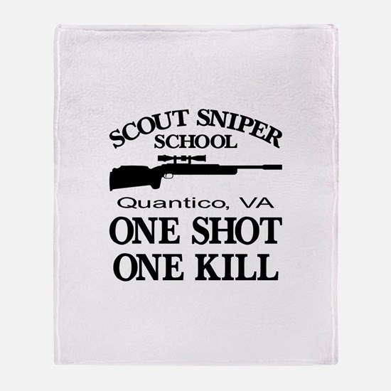 Scout-Sniper School Throw Blanket
