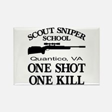 Scout-Sniper School Rectangle Magnet