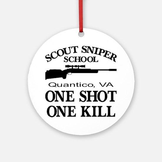 Scout-Sniper School Ornament (Round)