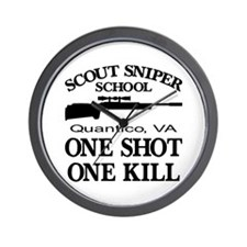 Scout-Sniper School Wall Clock