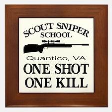 Scout-Sniper School Framed Tile