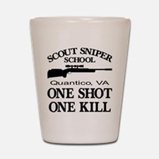 Scout-Sniper School Shot Glass