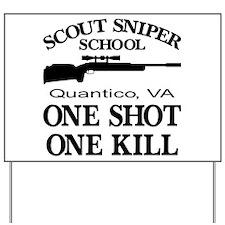 Scout-Sniper School Yard Sign