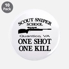 "Scout-Sniper School 3.5"" Button (10 pack)"
