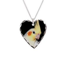 LOVELY COCKATIEL Necklace Heart Charm
