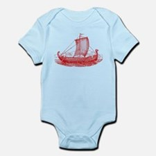 Cool Vintage Viking Ship Design Infant Bodysuit