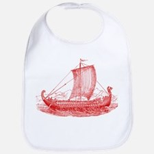Cool Vintage Viking Ship Design Bib
