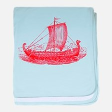 Cool Vintage Viking Ship Design baby blanket