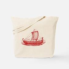 Cool Vintage Viking Ship Design Tote Bag