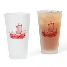Cool Vintage Viking Ship Design Drinking Glass