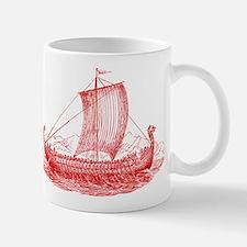 Cool Vintage Viking Ship Design Mug