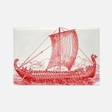 Cool Vintage Viking Ship Design Rectangle Magnet