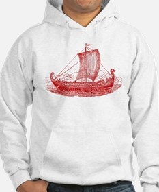 Cool Vintage Viking Ship Design Hoodie Sweatshirt