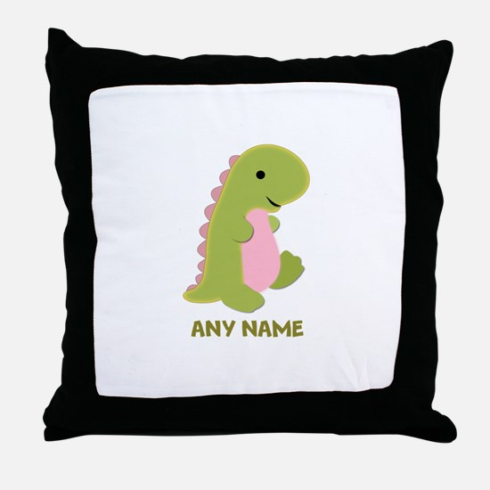 Customizable Dinosaur Print Throw Pillow