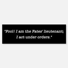 Fool Moby Dick Bumper Bumper Sticker