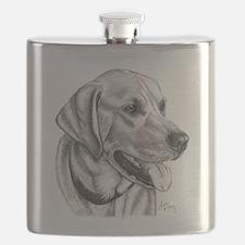 Yellow Labrador Retriever Flask