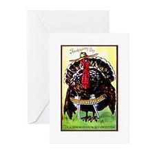 COWBOY TURKEY - Greeting Cards (Pk of 10)