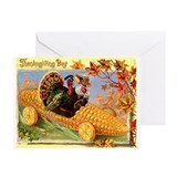 Vintage thanksgiving Greeting Cards (10 Pack)