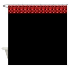 Chic Red Black Spirit Designer Shower Curtains