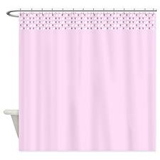 Light Pink Spirit Border Designer Shower Curtains