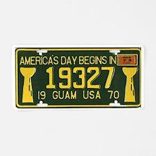 1970 Guam License Plate (w/1973 Sticker)