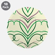 """Feather Print 3.5"""" Button (10 pack)"""