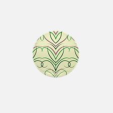 Feather Print Mini Button