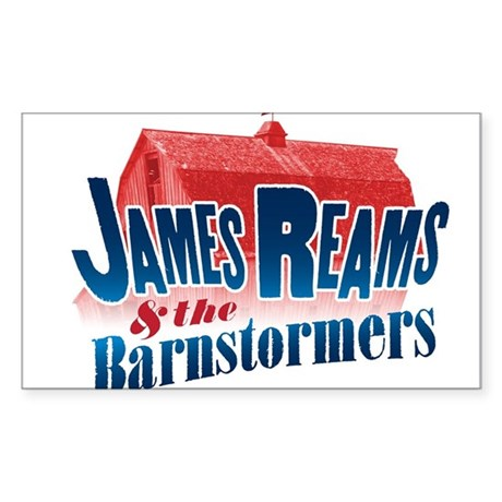 James Reams & The Barnstormers Sticker (Rectangle)