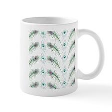Peacock Feathers Pattern Mug