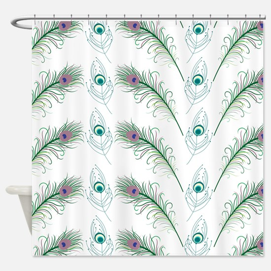 Peacock Feathers Pattern Shower Curtain