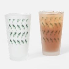 Peacock Feathers Print Drinking Glass