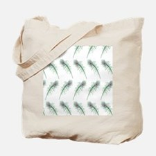 Peacock Feathers Print Tote Bag