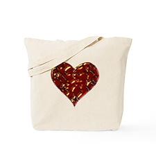 Molten Heart Cracked Valentine Design Tote Bag