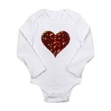 Molten Heart Cracked Valentine Design Long Sleeve