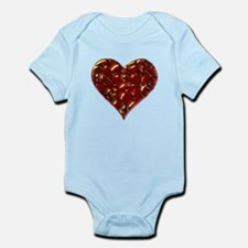 Molten Heart Cracked Valentine Design Infant Bodys