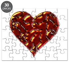 Molten Heart Cracked Valentine Design Puzzle