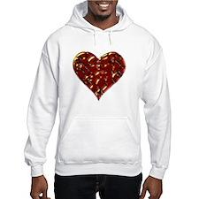 Molten Heart Cracked Valentine Design Hoodie