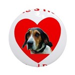 Ernie's Heart Logo Ornament (Round)