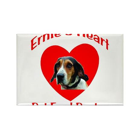 Ernie's Heart Logo Rectangle Magnet