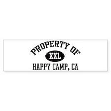 Property of HAPPY CAMP Bumper Bumper Sticker