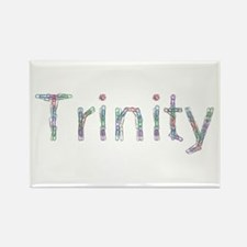 Trinity Paper Clips Rectangle Magnet