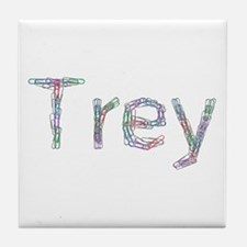 Trey Paper Clips Tile Coaster