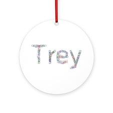 Trey Paper Clips Round Ornament