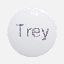 Trey Paper Clips Round Ornament