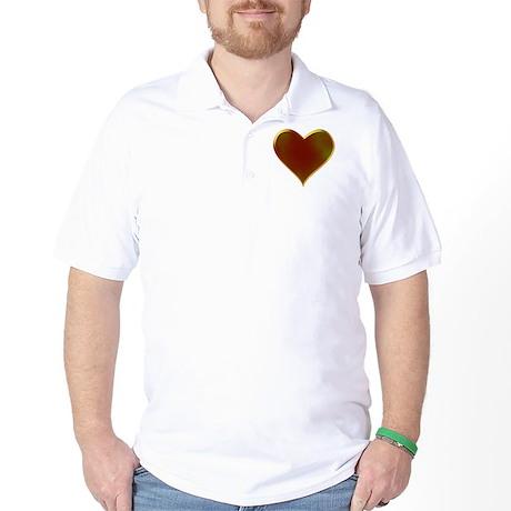Molten Heart Metal Valentine Design Golf Shirt
